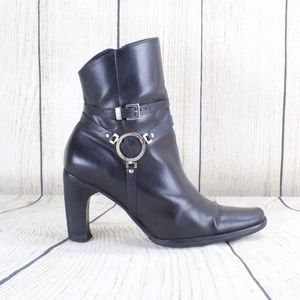 Harley-Davidson High Heeled Harness Ankle Boots 7